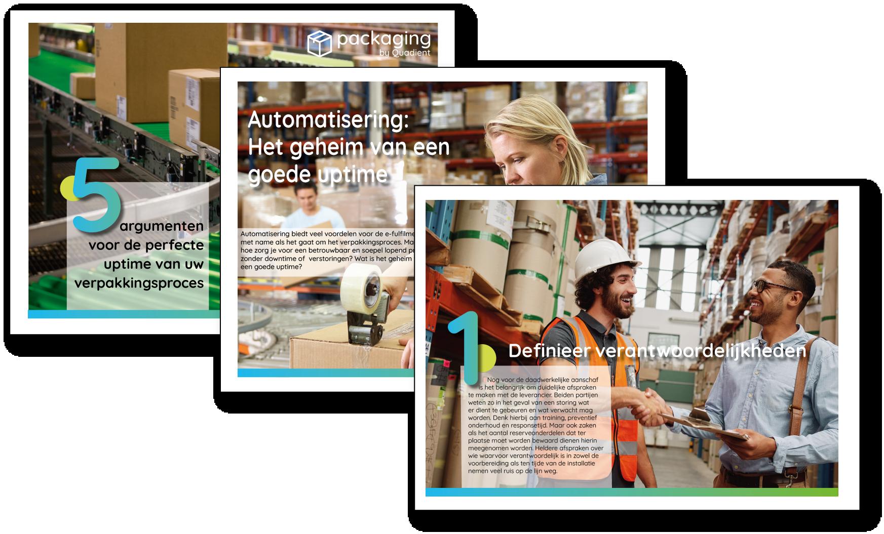Ebook 5 argumenten voor de perfecte uptime van uw verpakkingsproces